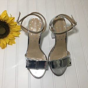 Loly in the Sky Radiant Reflections Block Heel EUC